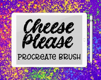 Cheese Please lettering brush for Procreate
