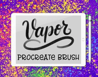 Vapor lettering brush for Procreate