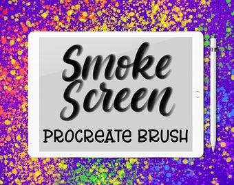 Smoke Screen lettering brush for Procreate