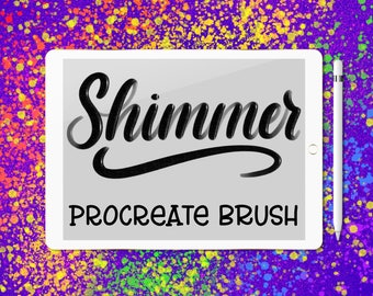 Shimmer lettering brush for Procreate app