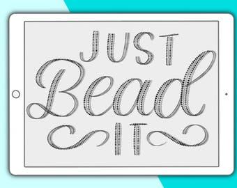 Just Bead It - Procreate lettering brush