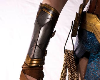 Silver and Gold Leather Bracers