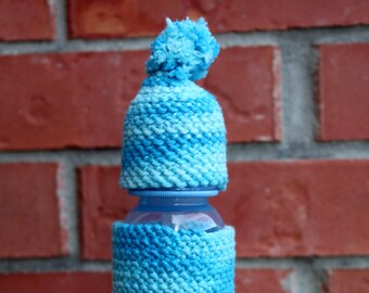 250 ml Baby Bottle with Cozy and Gnome Hat