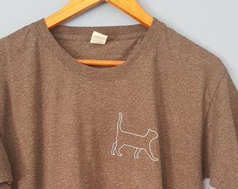 Cat T-Shirt - Iron-On Vinyl - Custom T-Shirt - Men's T-Shirt - Women's T-Shirt - Customised Shirts - Custom Cat Shirt