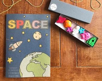 Space Colouring Book - Colouring Book - Colouring In