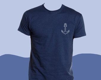 Anchor T Shirt - Nautical T Shirt - T-Shirt - Iron-On Vinyl - Adult T-Shirt