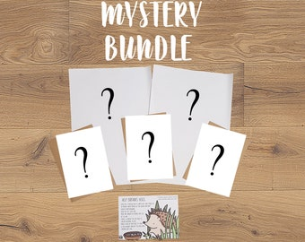 Mystery Bundle - Stationery Bundle - Wrapping Paper - Greeting Cards - Postcard - Fun Mystery Bundle
