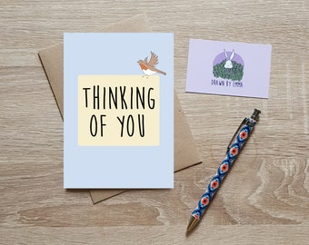 Thinking Of You - Sympathy Card - With Sympathy Card - Bereavement Card - Greetings Card - Blank