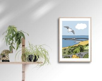 Lyme Regis - Print - A4 Print - Dorset - Nature - Wall Print