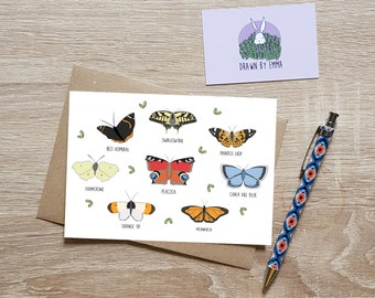 Butterfly Collection - Greeting Card - Garden Lovers - Birthday Card - Blank