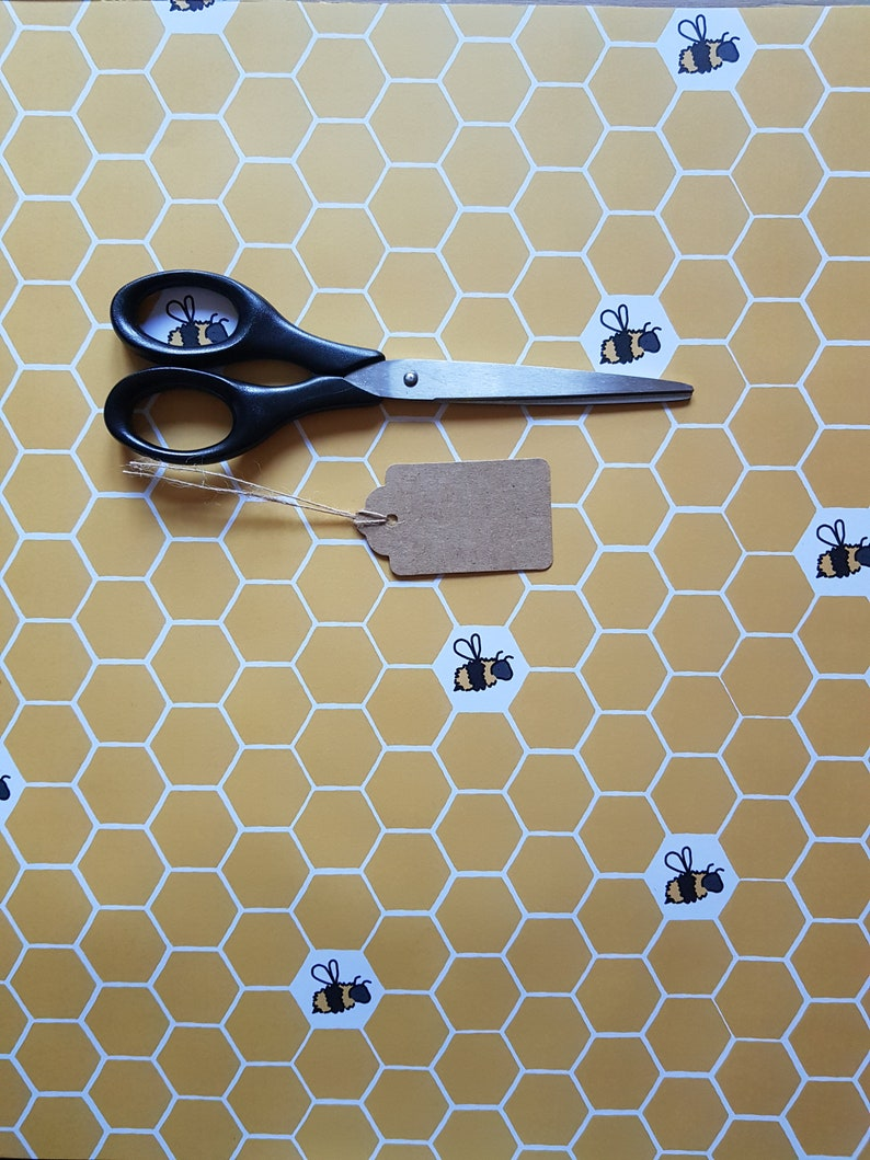 Gift Wrap & Tags  Honeycomb Print  Birthday Wrapping Paper  image 0