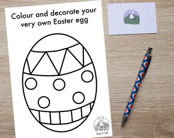 Easter Egg - Colouring In - Colouring In Page - Easter - Children's Activity