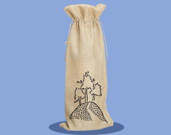 Colmer's Hill - Happy Birthday - Bottle Bag - Wine Bag - Reusable Wine Bag - Birthday Present - Gift Bag - Custom Wine Bag - Personalised