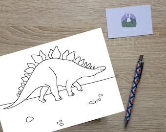 Stegasaurus - Dinosaur Colour In - Colouring In Page - Children's Activity