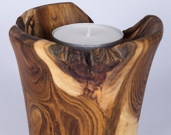 Handmade wooden tealight
