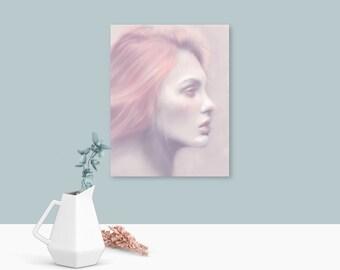 Pastel wall art, modern art, female gifts, pastel pink, prints, free shipping, wall art, art prints