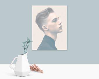 Pastel wall art, modern art, male gifts, pastel pink, prints, free shipping, wall art, art prints, gifts for guys, lgbt
