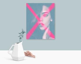 Pastel wall art, neon art, modern art, male gifts, pastel pink, prints, free shipping, wall art, art prints, gifts for guys, lgbt