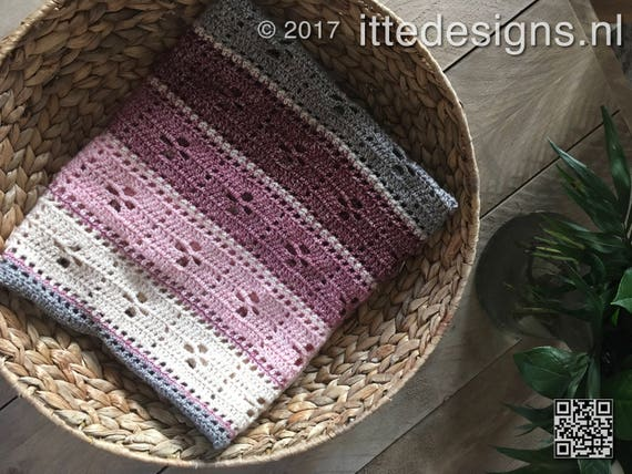 Crochet package 75 x 110 cm baby blanketrug /' Call the Midwife /'