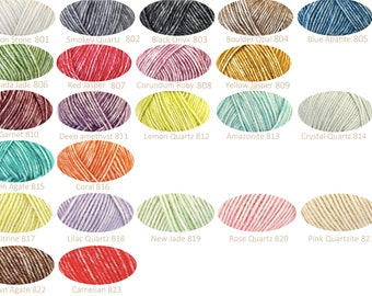 Ship Stonewashed Crochet Yarn (or knitting)/mix of colors possible