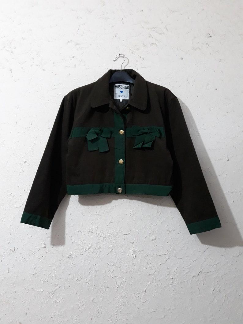 03a5ff8777a1e Vintage Moschino Velvet Cropped Womens Blazer | Etsy