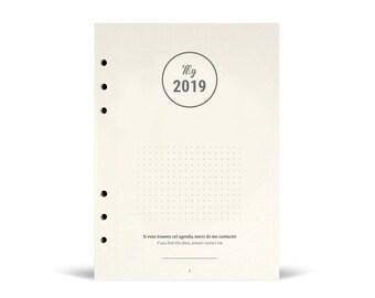 Agenda My 2019 - recharge pour classeur et organiseur Filofax