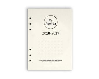 My Agenda 2018-2019 - Recharge pour classeur