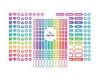My Agenda writable sticker sheets (x3)