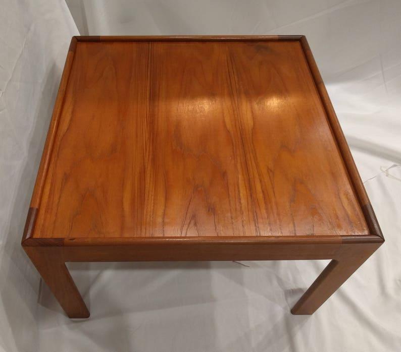 5d4f26e8a160 Vintage Mid Century Modern Teak Square Coffee Table MCM