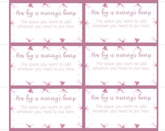 Baby Shower Invitation Insert, Pink Shibori Tie Dye, Pink tie dye, Girl Baby Shower, Game cards for baby shower : INSTANT DOWNLOAD