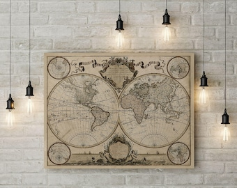Old world map canvas etsy gumiabroncs Images