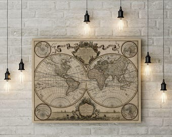 Old world map canvas etsy gumiabroncs