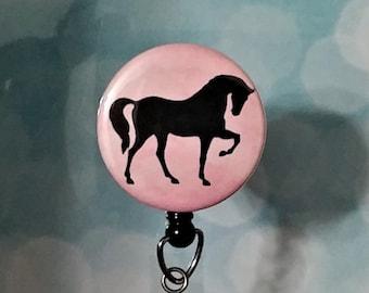 Id Badge Reel Badge Reel Retractable Badge Reel Badge Holder Id Holder Name Tag Horse Badge reel