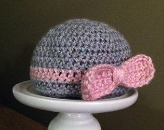 Newborn Baby Bow Hat