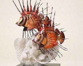 Lion Fish Metal Table Sculpture CW300