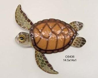 Sea Turtle Metal Wall Art & Turtle metal art   Etsy