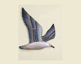 Wooden Seagull Flying Decoy - C029