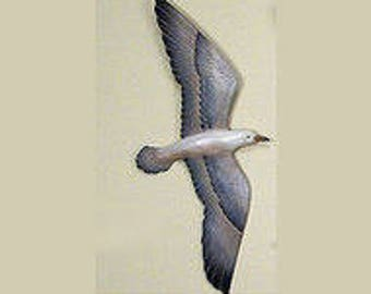 Wooden Seagull Flying Decoy - C030
