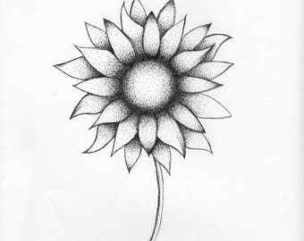 Sunflower Dot Art