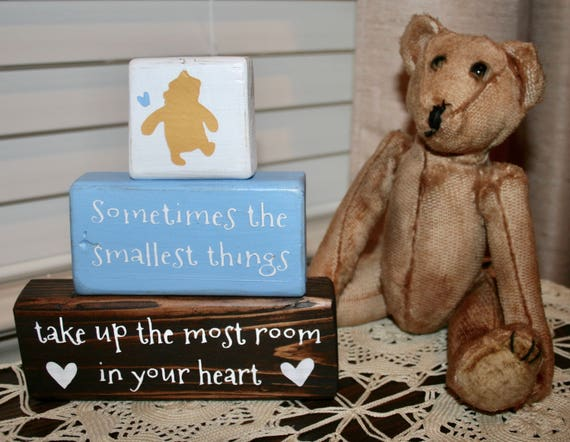 Smallest Thing Classic Winnie The Pooh Nursery Quote Baby Etsy