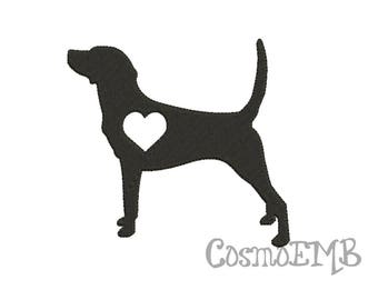 8 size dachshund long haired silhouette embroidery applique etsy