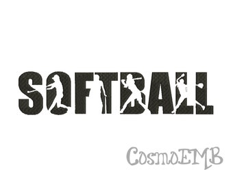 Softball Embroidery Designs Etsy