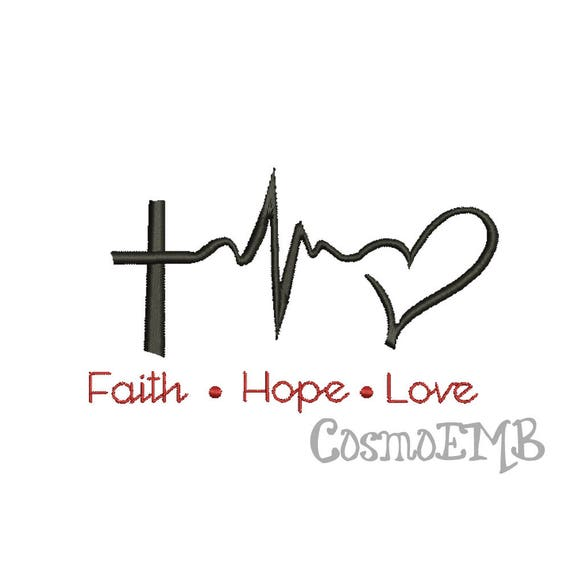 7 Size Faith Hope Love Embroidery Design Machine Embroidery Etsy