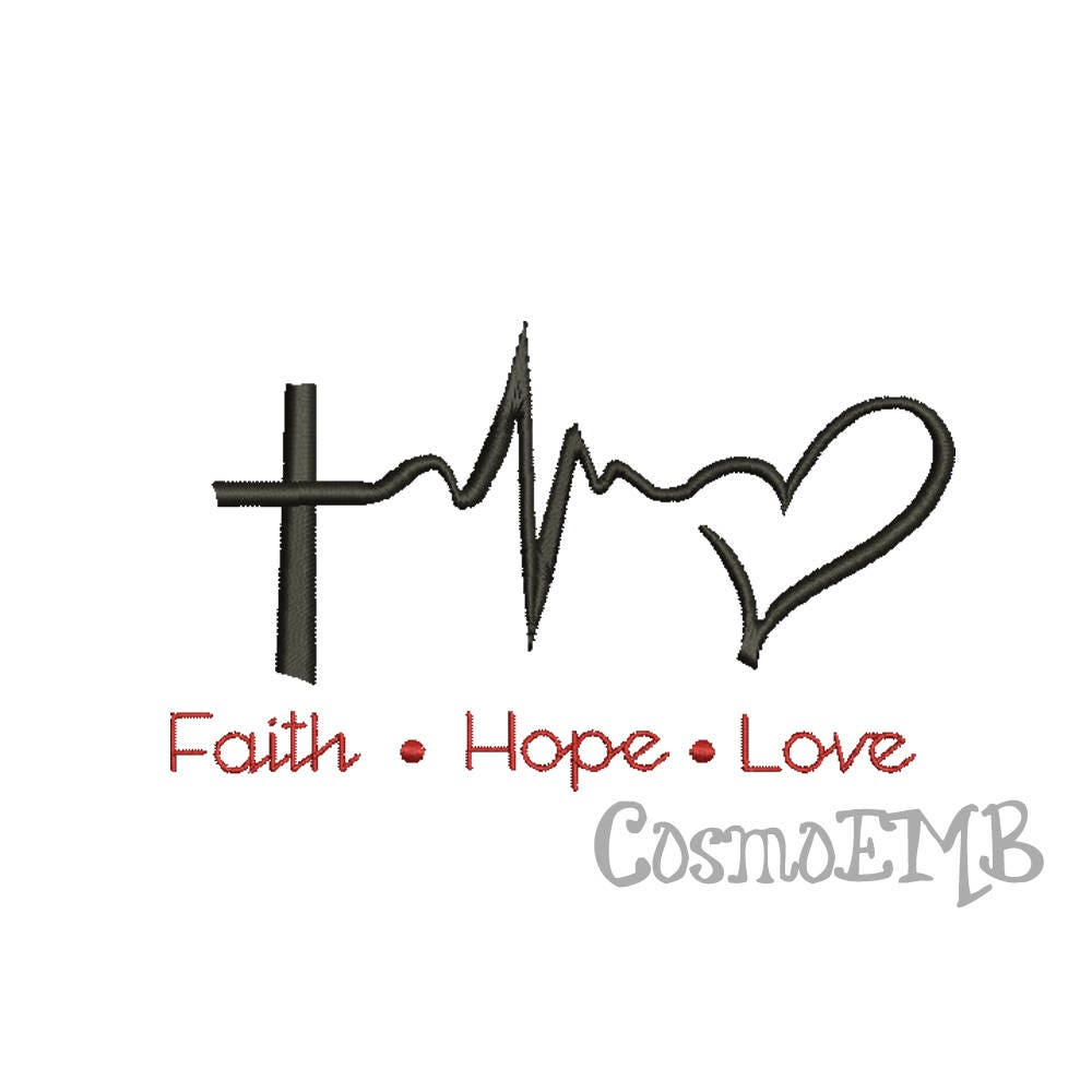7 size faith hope love embroidery design machine - Faith love hope pictures ...