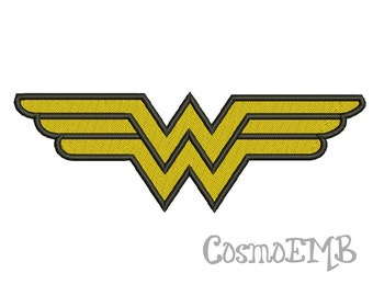 Wonder Woman Embroidery design Machine Embroidery - Digital INSTANT DOWNLOAD
