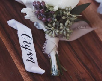 Custom Boutonniere Tags