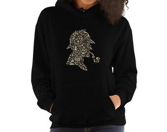 d76f91497b33 Sherlock Holmes Hooded Sweatshirt   Sherlock Holmes Hoodie   Sherlock  Holmes Apparel   Detective Hoodie