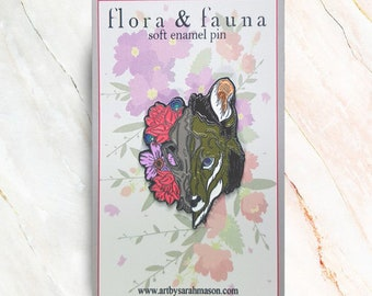 Flora and Fauna Open Edition Enamel Pin