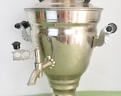Samovar with Tray and Glasses - Gift Set For Couple - Russian - Electric Samovar - Tea for Two - Gift for Couple - Different Gifts
