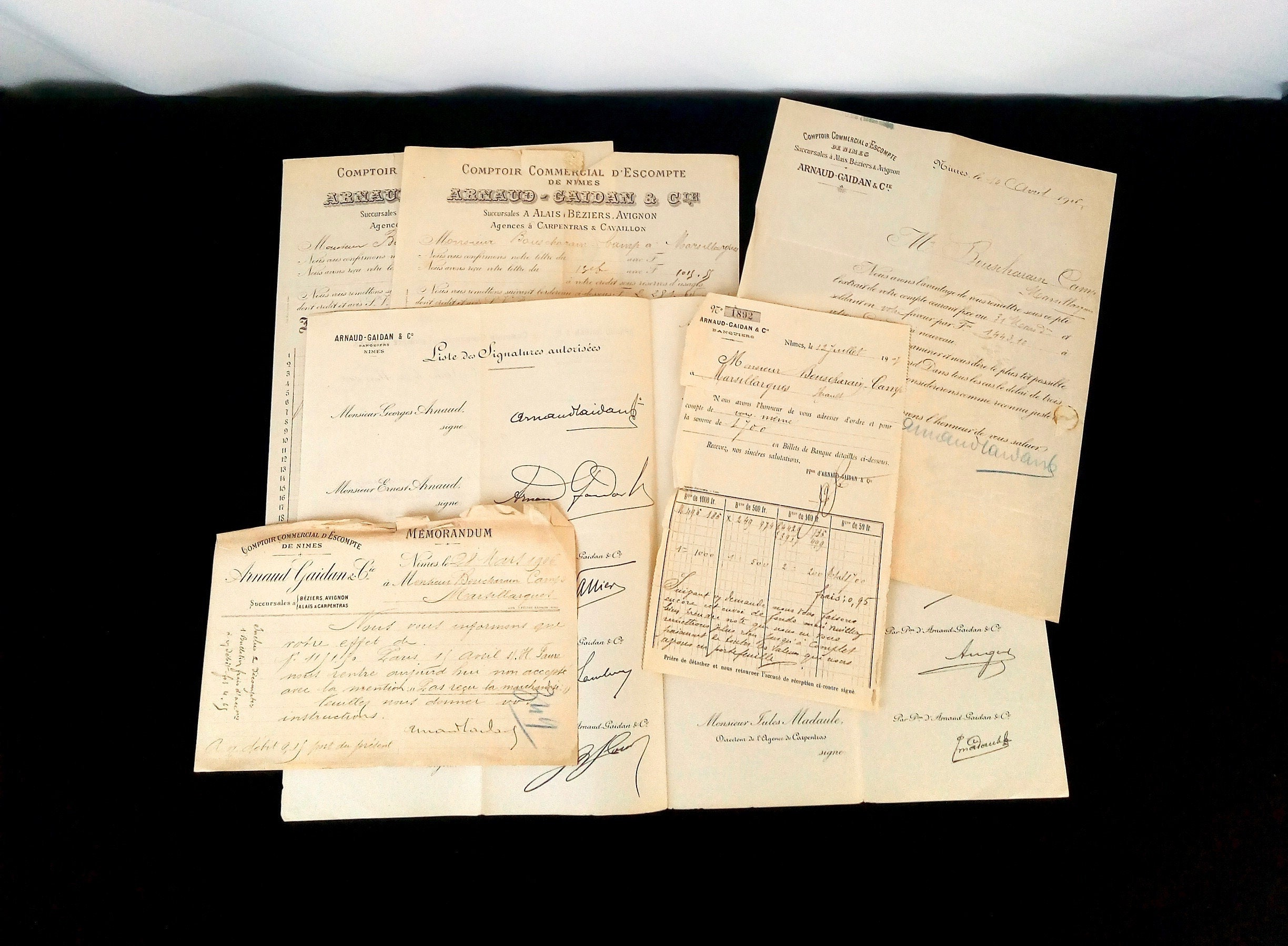 Lot of 6 Antique French Papers - Sales Docs Antique - Vintage Crafting  Paper - Party Supplies - Handwritten